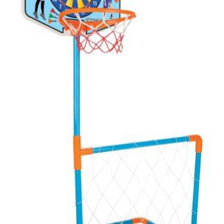 Basket + fotbalová branka s míčem