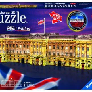Puzzle 3D Buckinghamský palác (Noční edice) 216 dílků