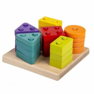 CUBIKA - Třídíme tvary - dřevěná skládačka - 25 dílů