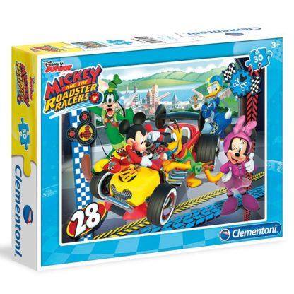 Puzzle 30 dílků Mickey závodník