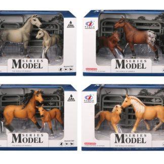 Sada figurek Model Svět zvířat 2 kůň+hříbě