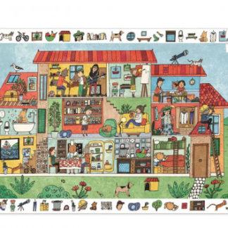 Vyhledávací puzzle s plakátem - Dům - 35 ks
