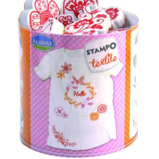 StampoTextil - Květinový věnec- 19 ks