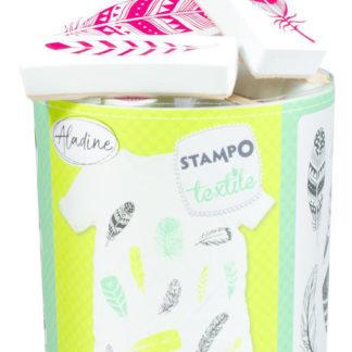 Stampo textil - Peříčka - 13 ks