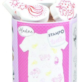 Stampo textil - Kouzelní jednorožci - 14 ks