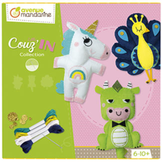 Velký kreativní box Dětské šití zvířátka