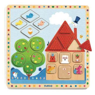 Vzdělávací puzzle Dům - tvary a velikosti