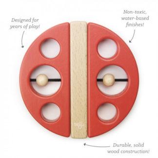 Magnetická hračka TEGU - Swivel Bug - Poppy Red