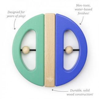 Magnetická hračka TEGU - Swivel Bug - Teal and Blue
