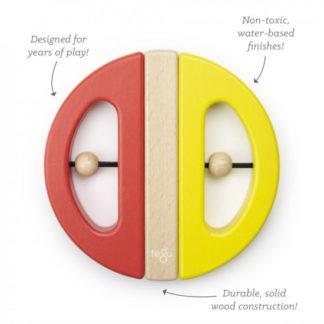 Magnetická hračka TEGU - Swivel Bug - Yellow and Poppy