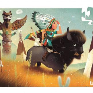 Puzzle Indián Tatanka - 36 dílků  sleva 20% promáčklý obal