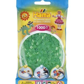 Hama Midi - průhledné zelené korálky - 1000 Ks